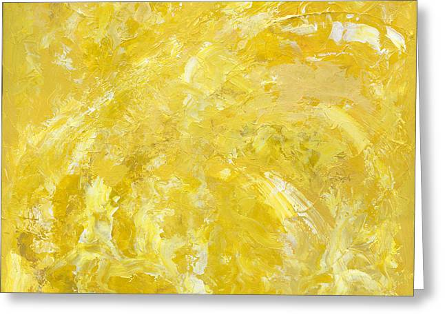 Car Part Paintings Greeting Cards - Yellow Color of Energy Greeting Card by Ania Milo