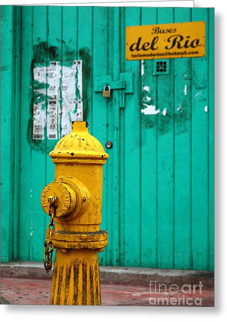 Old Objects Greeting Cards - Yellow fire hydrant Greeting Card by James Brunker