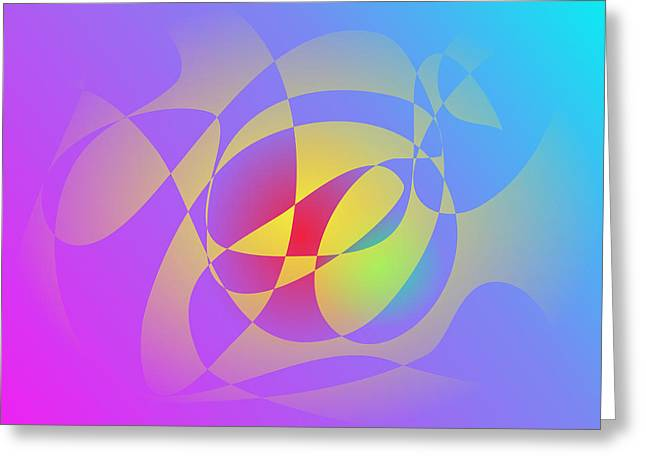 Gradations Digital Art Greeting Cards - Yellow Flame Greeting Card by Masaaki Kimura