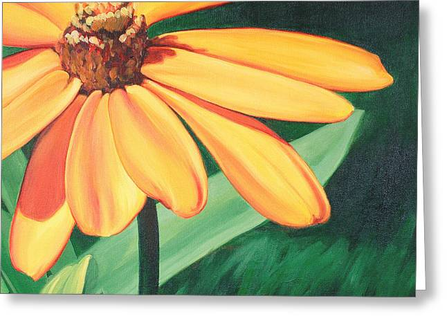 Carlynne Hershberger Greeting Cards - Yellow Flower Greeting Card by Carlynne Hershberger