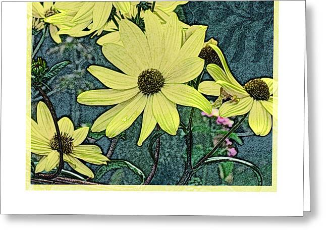 Yellow Flowers Of October Greeting Card by Valerie Drake Lesiak