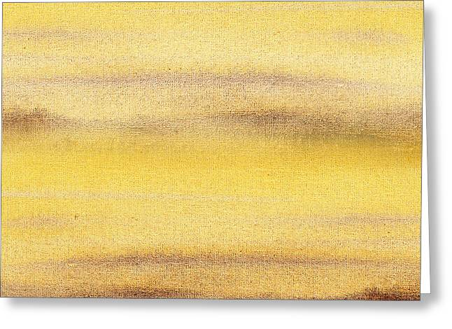 Hallway Decor Greeting Cards - Yellow Fog Abstract Landscape  Greeting Card by Irina Sztukowski