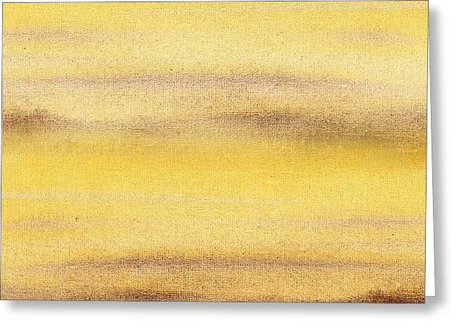 Yellow Fog Abstract Landscape  Greeting Card by Irina Sztukowski