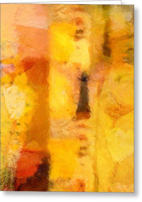 Yellow Garden Greeting Card by Lutz Baar