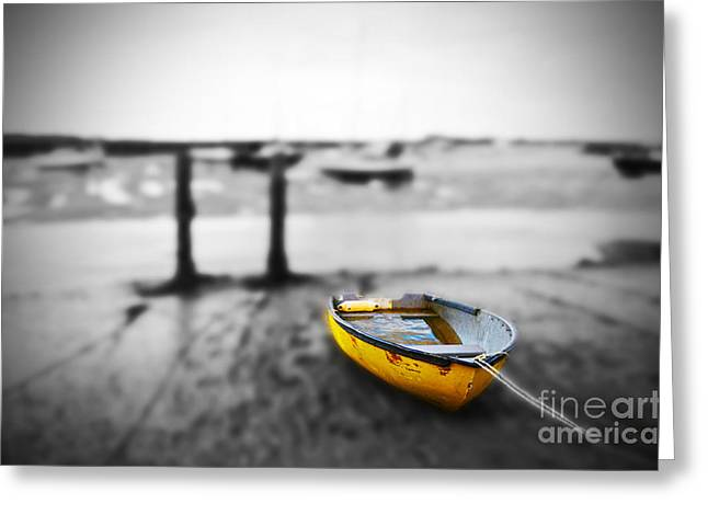 Selection Digital Greeting Cards - Yellow Greeting Card by Jon Clifton