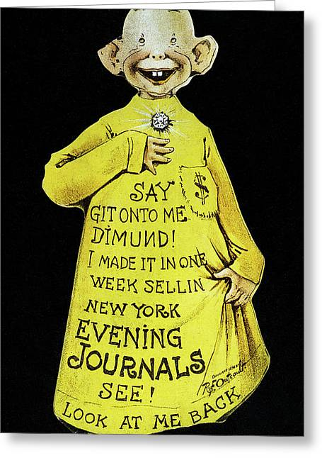 Yellow Journalism Greeting Card by Granger