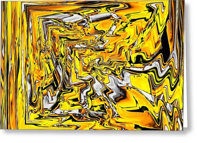 Bernstein Greeting Cards - Yellow Greeting Card by Klaas Hartz