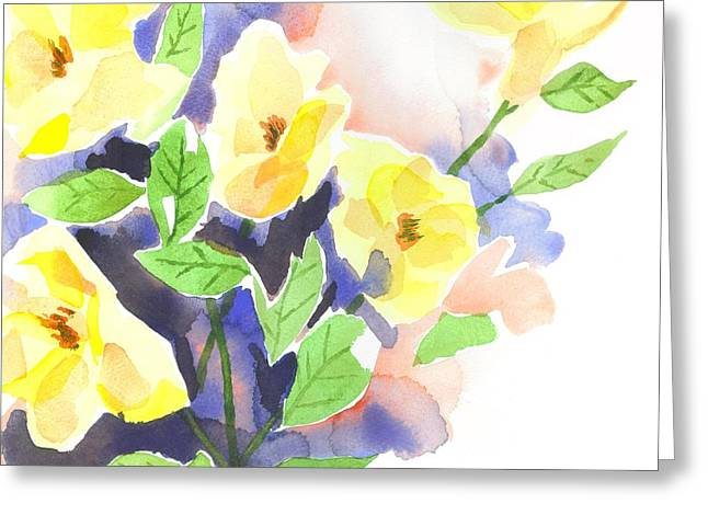 Green And Yellow Greeting Cards - Yellow Magnolias Greeting Card by Kip DeVore