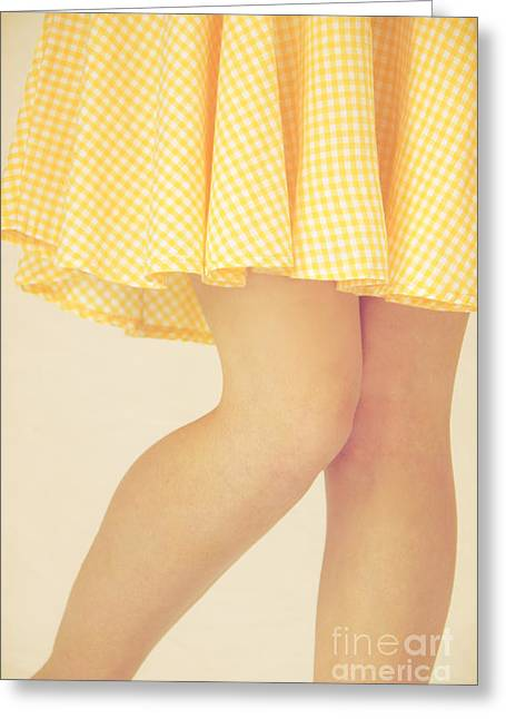 Sundress Greeting Cards - Yellow Greeting Card by Margie Hurwich