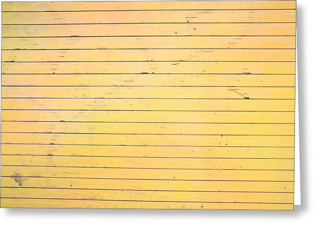 Grooves Greeting Cards - Yellow metal Greeting Card by Tom Gowanlock