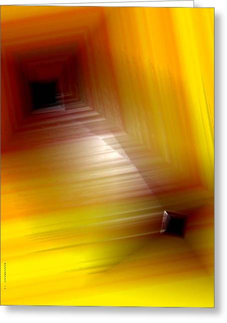 Transparency Geometric Greeting Cards - Yellow mixture Greeting Card by Mario  Perez