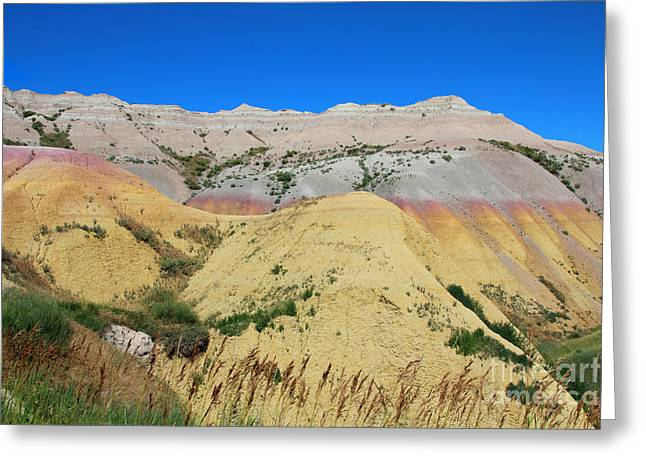 Yellow Mounds Badlands National Park Greeting Card by Jemmy Archer