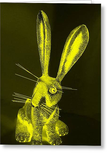 Bugs Bunny Greeting Cards - Yellow New Mexico Rabbit Greeting Card by Rob Hans