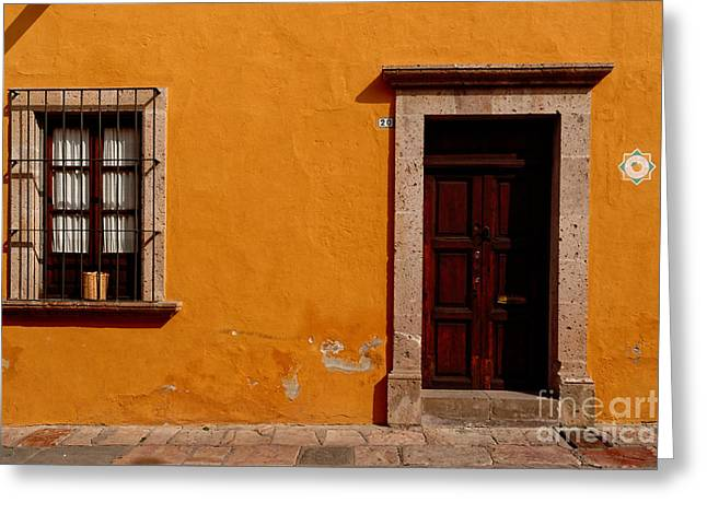 Bar San Miguel Greeting Cards - Yellow No. 3 Greeting Card by Eduardo Machuca