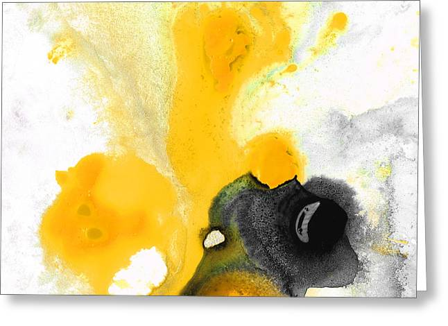 Lemon Art Paintings Greeting Cards - Yellow Orange Abstract Art - The Dreamer - By Sharon Cummings Greeting Card by Sharon Cummings