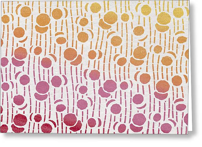 Art Decor Greeting Cards - Yellow Orange Pink Red Greeting Card by Aged Pixel