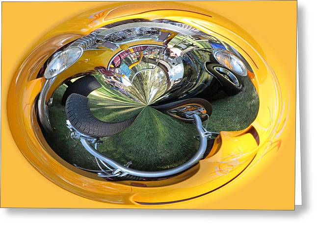 Ron Roberts Photography Greeting Cards - Yellow Orb Abstract Greeting Card by Ron Roberts