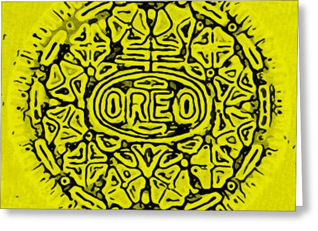 YELLOW OREO Greeting Card by ROB HANS