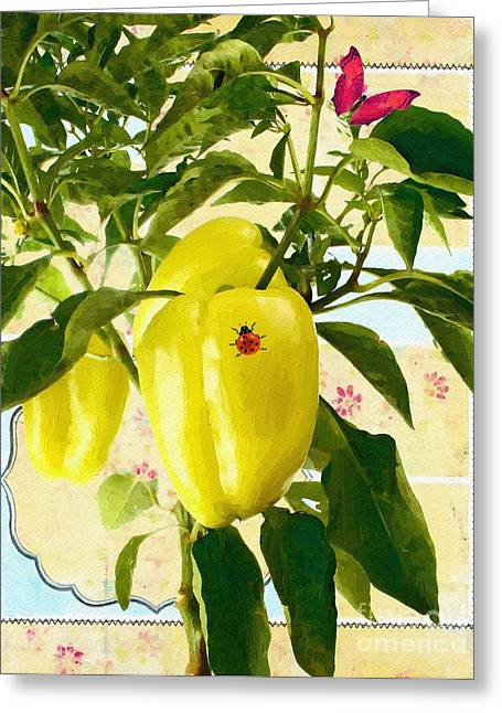 Liane Wright Greeting Cards - Yellow Pepper Greeting Card by Liane Wright