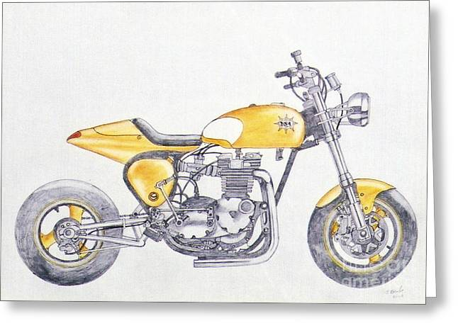 Camshaft Greeting Cards - Yellow peril Greeting Card by Stephen Brooks