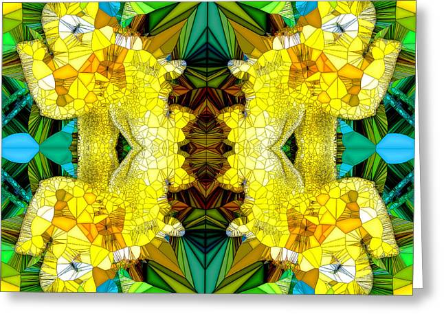 Neoteric Greeting Cards - Yellow Rio Greeting Card by Robert Pierce