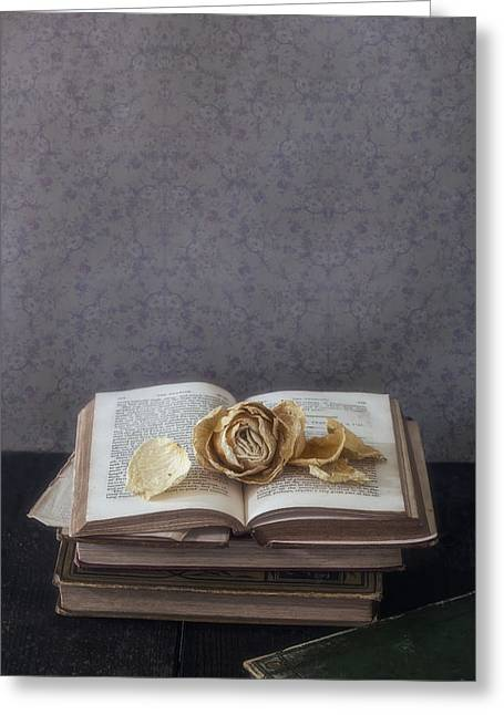 Library Greeting Cards - Yellow Rose Greeting Card by Joana Kruse