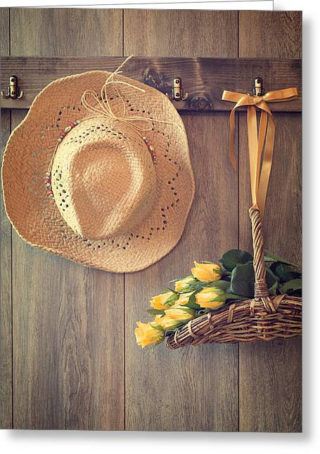Shed Photographs Greeting Cards - Yellow Roses Greeting Card by Amanda And Christopher Elwell