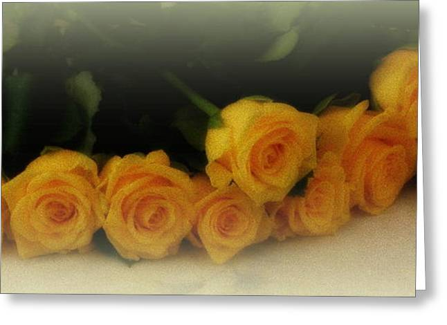 Lainie Wrightson Greeting Cards - Yellow Roses Greeting Card by Lainie Wrightson