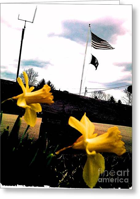 Thommy Mccorkle Greeting Cards - Yellow Salute Greeting Card by Thommy McCorkle