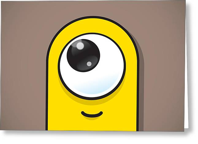 Eye-catching Greeting Cards - Yellow Greeting Card by Samuel Whitton