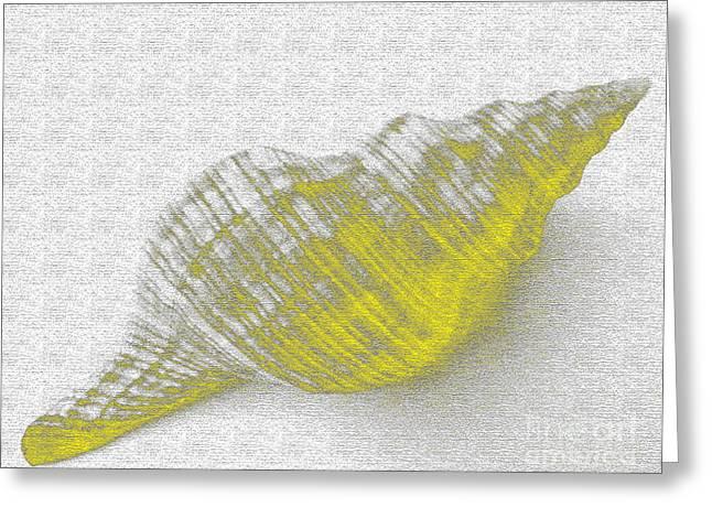 Yellow Seashell Greeting Card by Carol Lynch