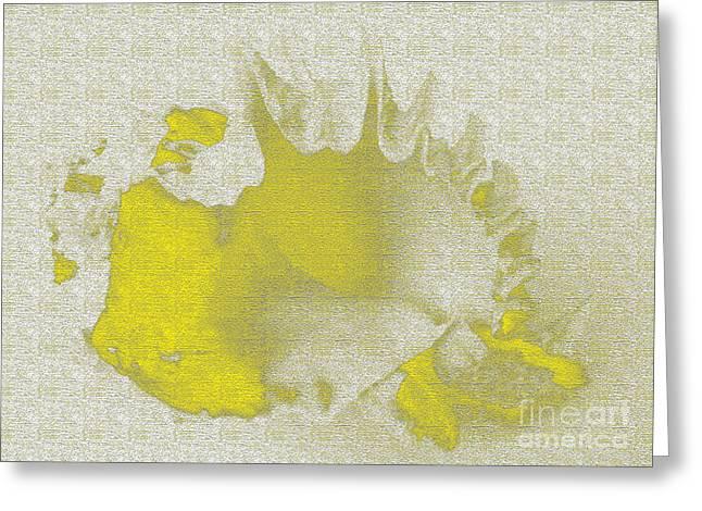 Sea Shell Digital Art Greeting Cards - Yellow shell Greeting Card by Carol Lynch