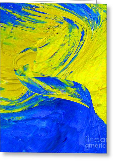 Yellow Stream Greeting Card by Gabriele Mueller