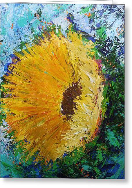 Recently Sold -  - Yellow Sunflower Greeting Cards - Yellow Sunflower Greeting Card by Kristye Addison Dudley