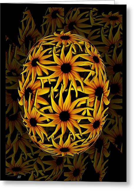 Saint Jean Art Gallery Greeting Cards - Yellow Sunflower Seed Greeting Card by Barbara St Jean