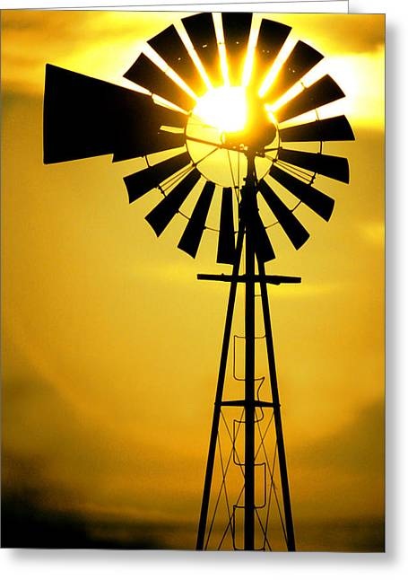 Yellow Wind Greeting Card by Jerry McElroy