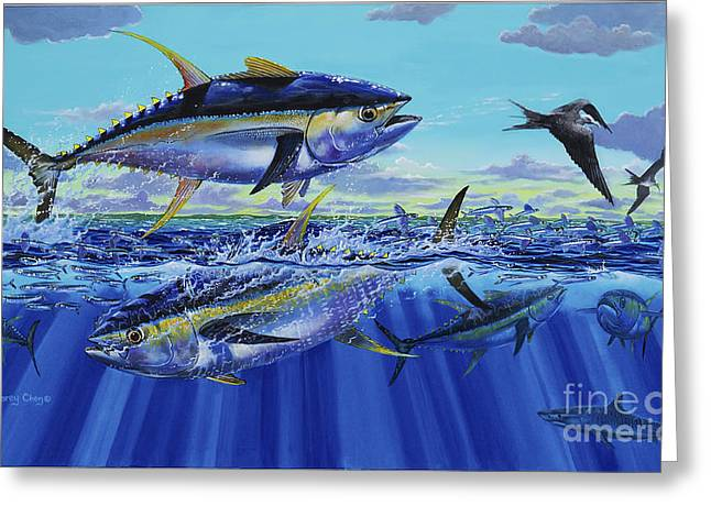 Yellowfin Bust Off0083 Greeting Card by Carey Chen