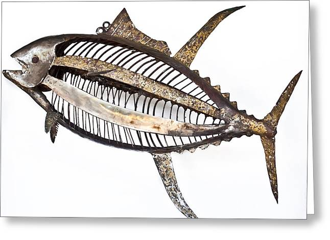 Beach Sculptures Greeting Cards - Yellowfin In Suspence Greeting Card by Bill Warr