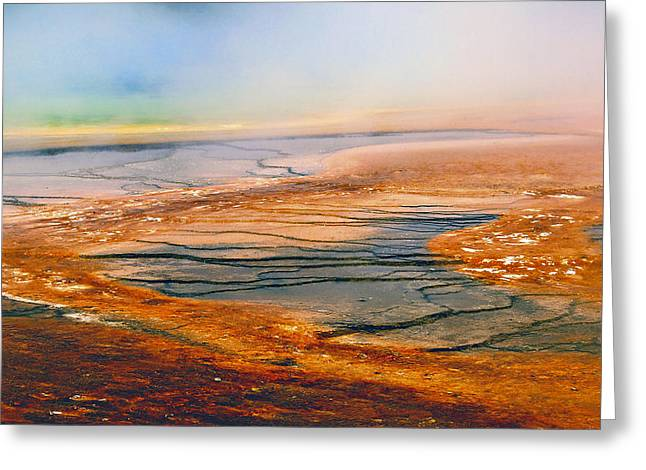 Hot Springs Yellowstone Midway Hot Springs Yellowstone Hot Greeting Cards - Yellowstone 18 Greeting Card by Ingrid Smith-Johnsen