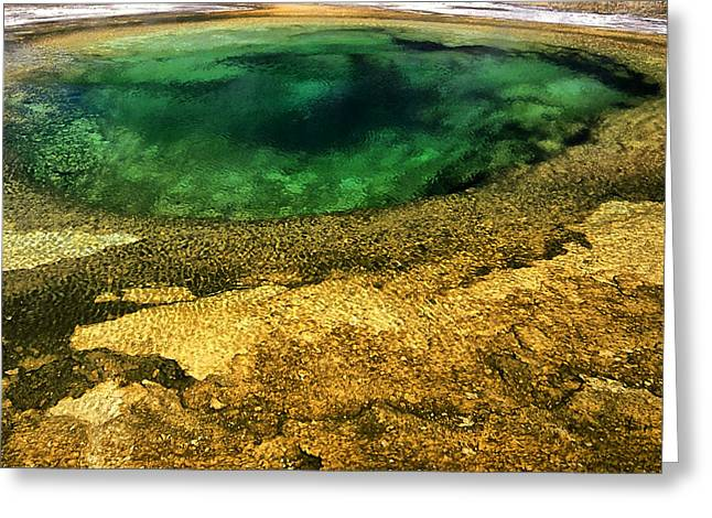 Hot Springs Yellowstone Midway Hot Springs Yellowstone Hot Greeting Cards - Yellowstone 10 Greeting Card by Ingrid Smith-Johnsen