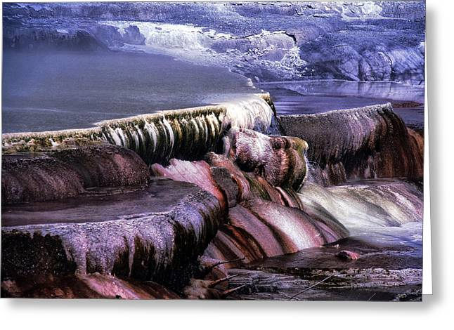 Hot Springs Yellowstone Midway Hot Springs Yellowstone Hot Greeting Cards - Yellowstone 12 Greeting Card by Ingrid Smith-Johnsen