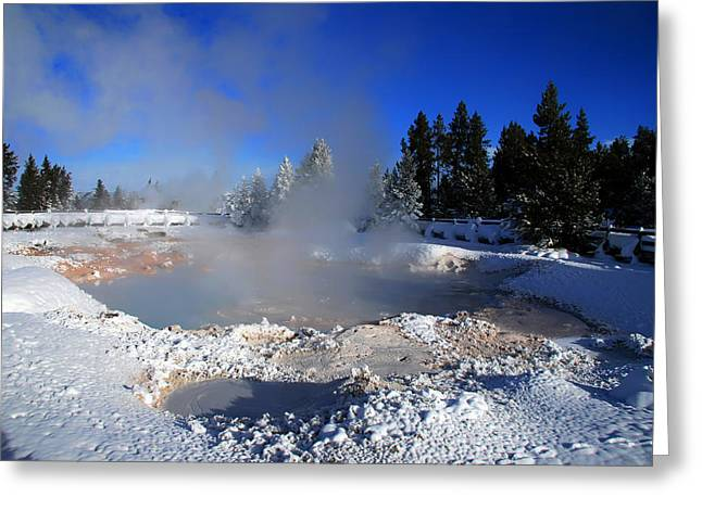 Hot Springs Yellowstone Midway Hot Springs Yellowstone Hot Greeting Cards - Yellowstone 13 Greeting Card by Ingrid Smith-Johnsen