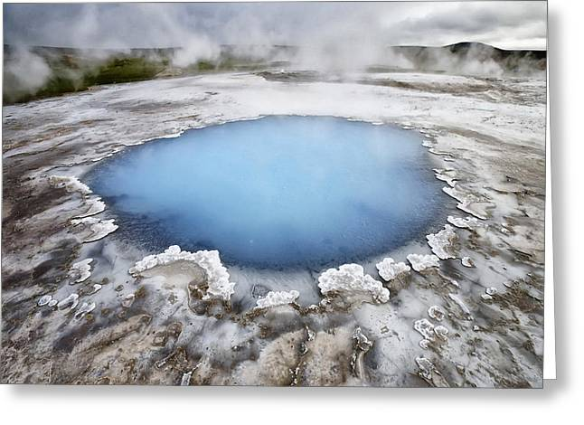 Hot Springs Yellowstone Midway Hot Springs Yellowstone Hot Greeting Cards - Yellowstone 7 Greeting Card by Ingrid Smith-Johnsen