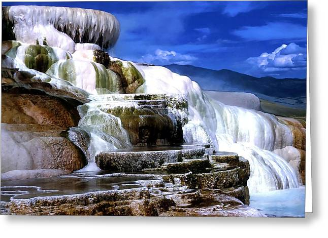 Hot Springs Yellowstone Midway Hot Springs Yellowstone Hot Greeting Cards - Yellowstone 8 Greeting Card by Ingrid Smith-Johnsen