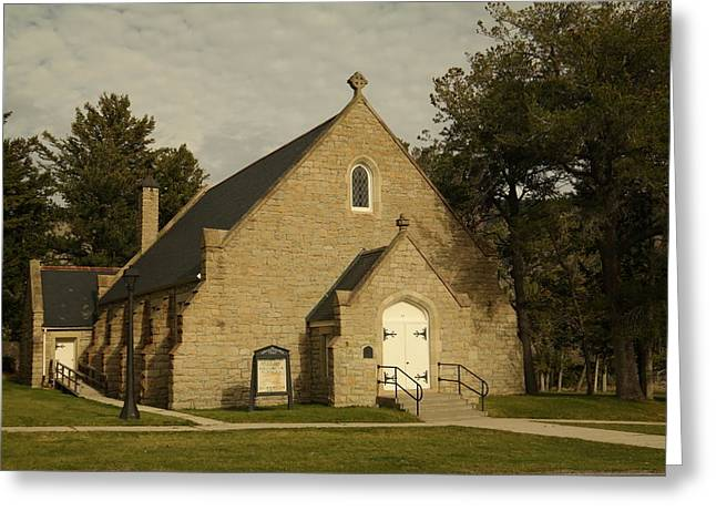 Historical Buildings Greeting Cards - Yellowstone Chapel Greeting Card by Jeff  Swan
