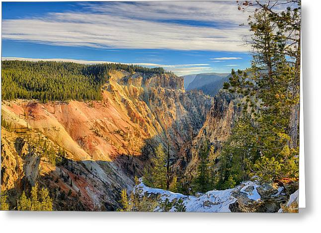 Yellowstone Greeting Cards - Yellowstone Grand Canyon East View Greeting Card by Greg Norrell