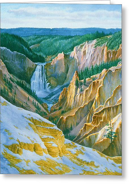 Yellowstone Grand Canyon - November Greeting Card by Paul Krapf