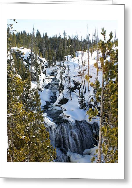 U.s.a. President Greeting Cards - Yellowstone icy river Greeting Card by Jack Pumphrey