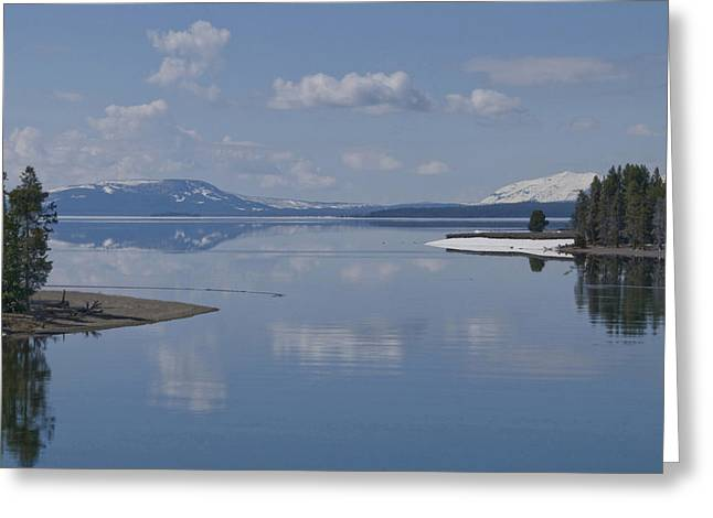 Sea Art Greeting Cards - Yellowstone Lake Greeting Card by SEA Art