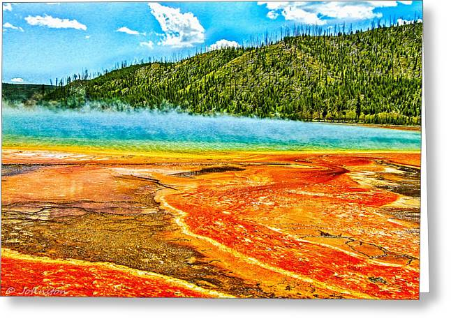 Super Volcano Greeting Cards - Yellowstone National Park  Greeting Card by  Dr Bob and Nadine Johnston
